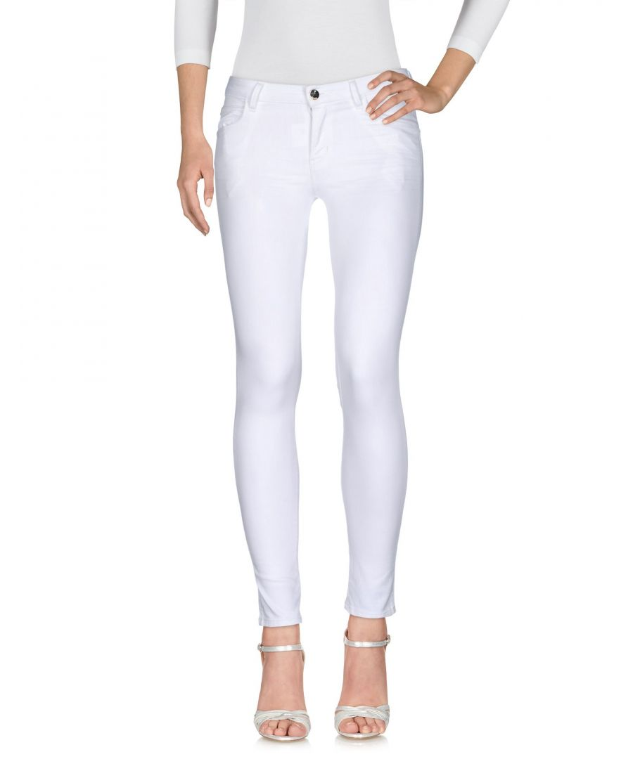 Image for DENIM Guess White Woman Cotton