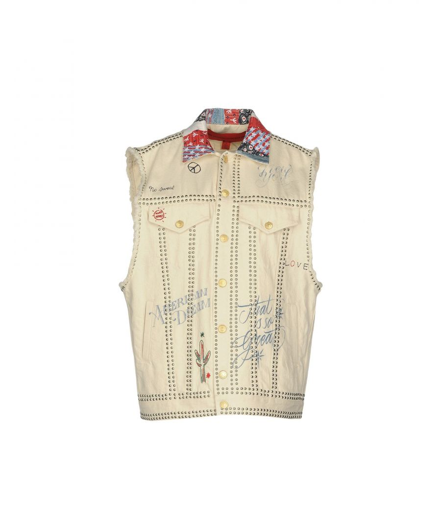 Image for Hilfiger Collection Ivory Sleeveless Denim Jacket
