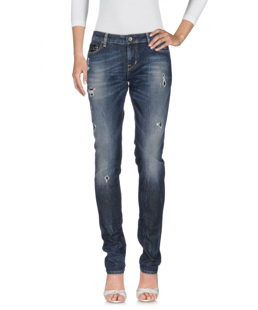 Image for Guess Blue Cotton Slim Fit Jeans