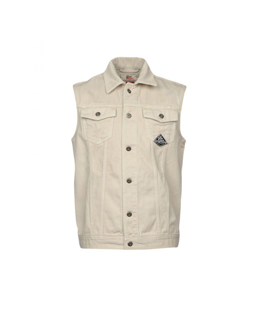 Image for Roy Roger's Beige Cotton Sleeveless Denim Jacket