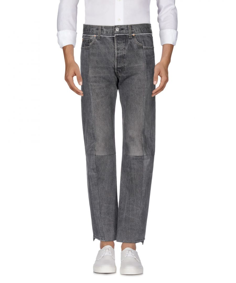 Image for Vetements Grey Cotton High Waisted Jeans