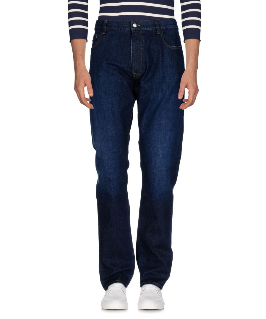 Image for Zzegna Blue Cotton Straight Leg Jeans
