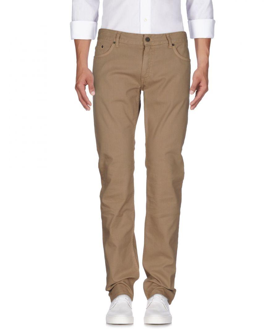 Image for Roberto Cavalli Khaki Cotton Straight Leg Coloured Wash Jeans