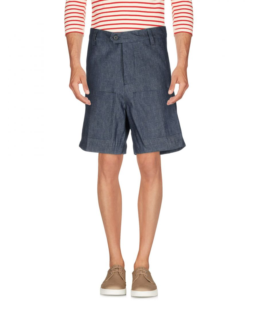 Image for Milano 140 Blue Cotton Denim Bermuda Shorts