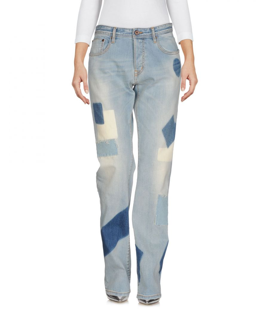 Image for Just Cavalli Blue Light Wash Cotton Jeans