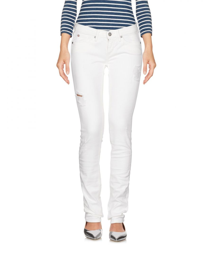 Image for Pepe Jeans White Cotton Skinny Jeans