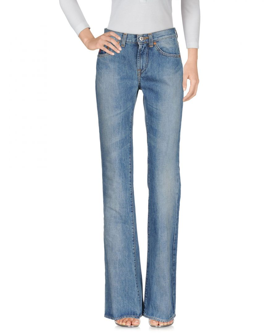 Image for Guess Blue Cotton Wide Leg Jeans