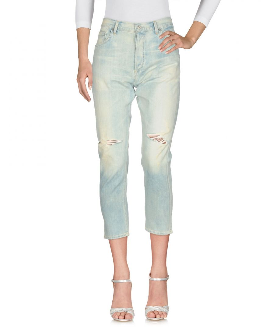 Image for Citizens Of Humanity Blue Cotton Light Wash Cropped Jeans
