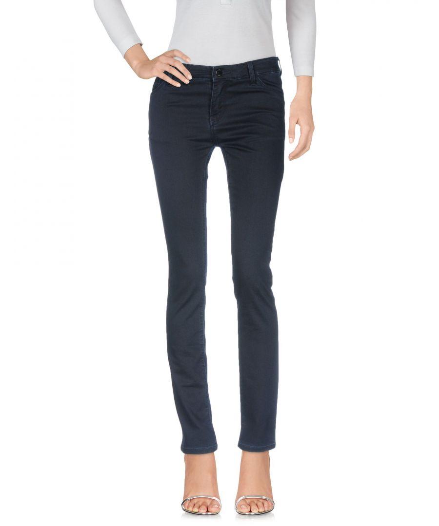 Image for Armani Jeans Blue Cotton Slim Fit Jeans