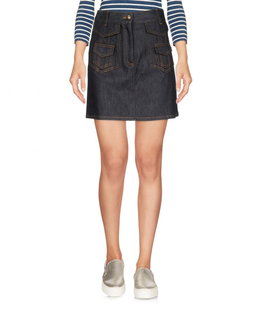 Image for Valentino Blue Denim Skirt