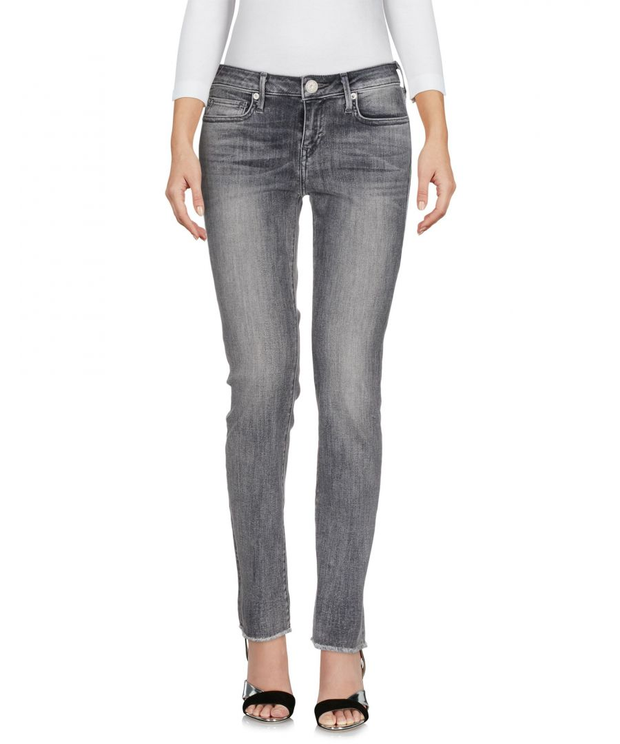 Image for DENIM True Religion Grey Woman Cotton