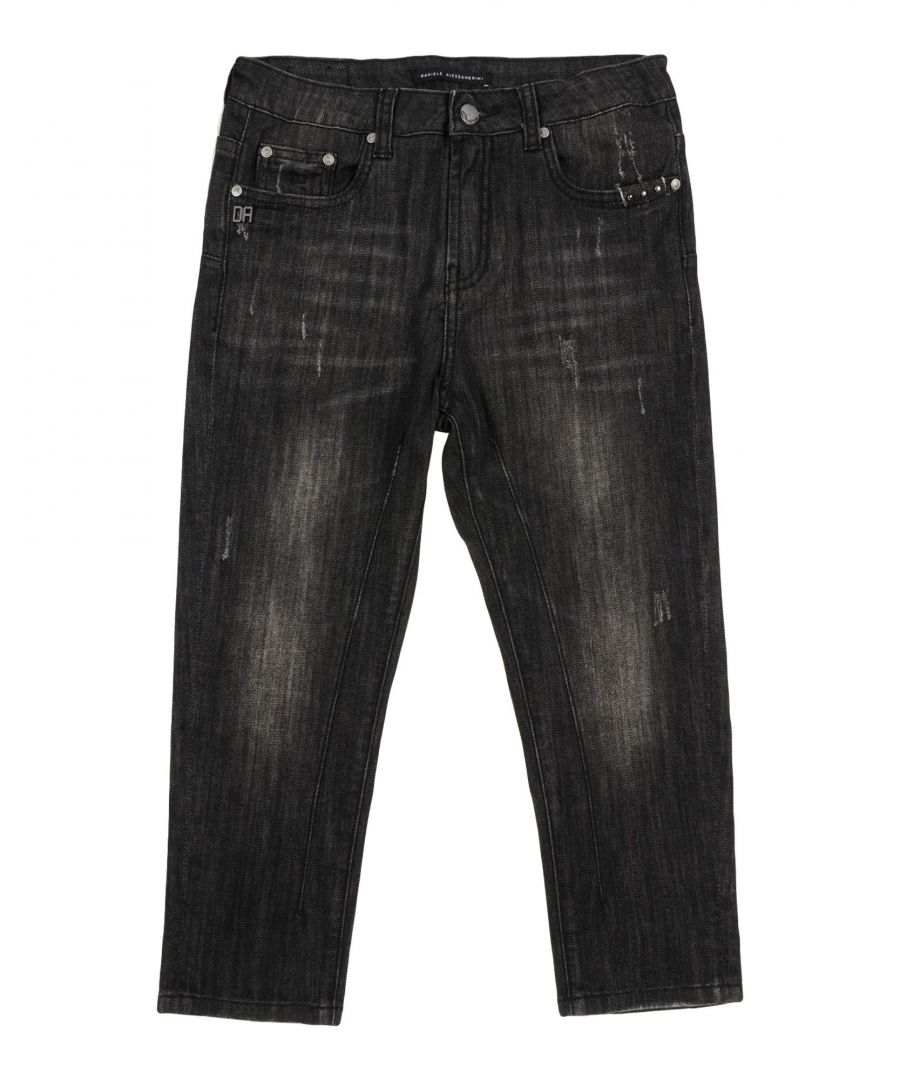 Image for Daniele Alessandrini Boy Denim trousers Black Cotton