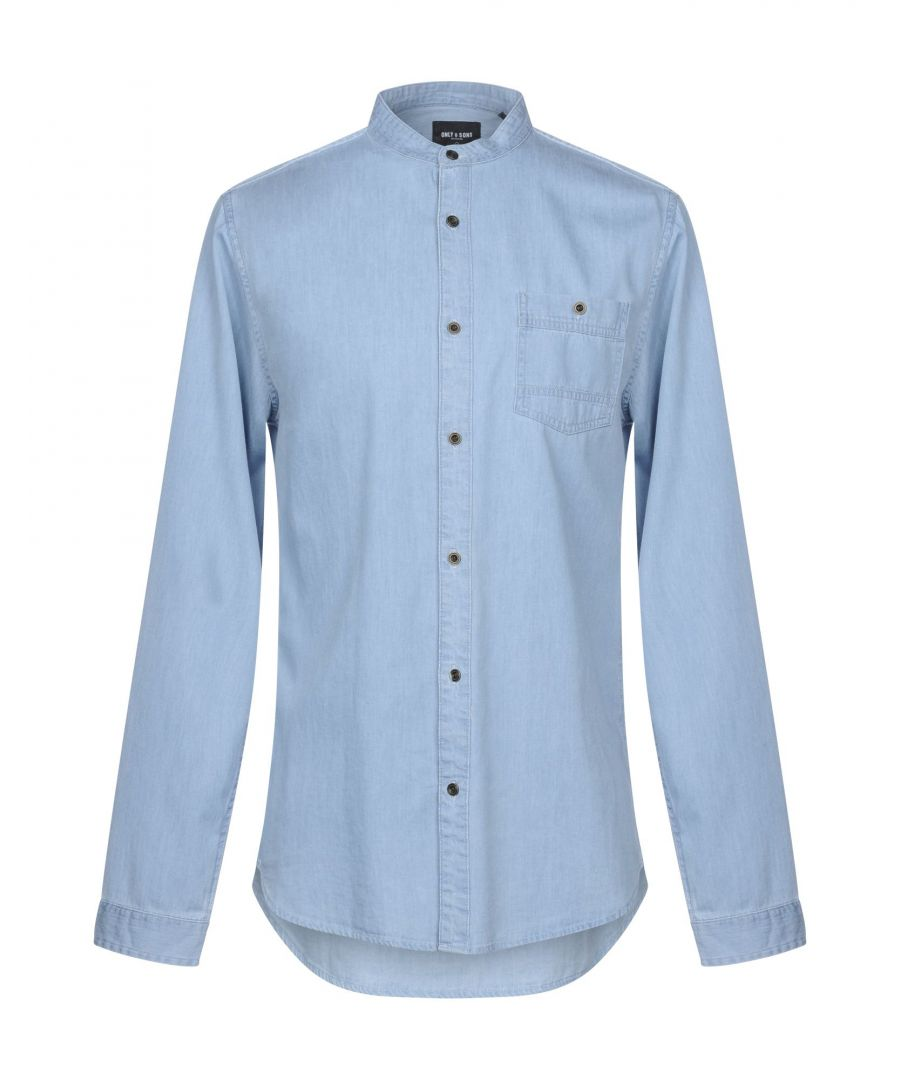 Image for Only & Sons Blue Denim Shirt