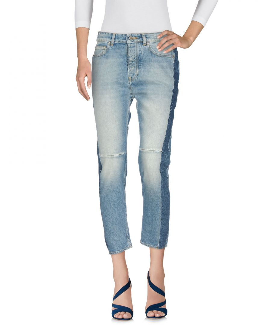 Image for Golden Goose Deluxe Brand Blue Cotton Cropped Jeans