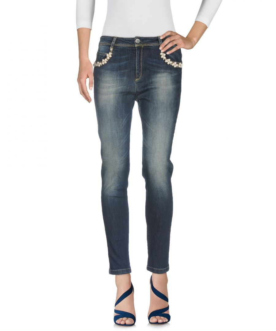 Image for Cristinaeffe Blue Cotton Slim Fit Jeans