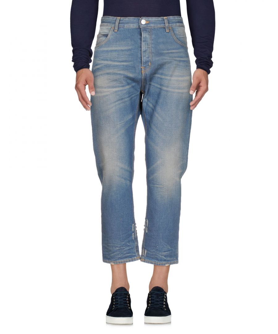 Image for Haikure Blue Cotton Straight Leg Cropped Jeans