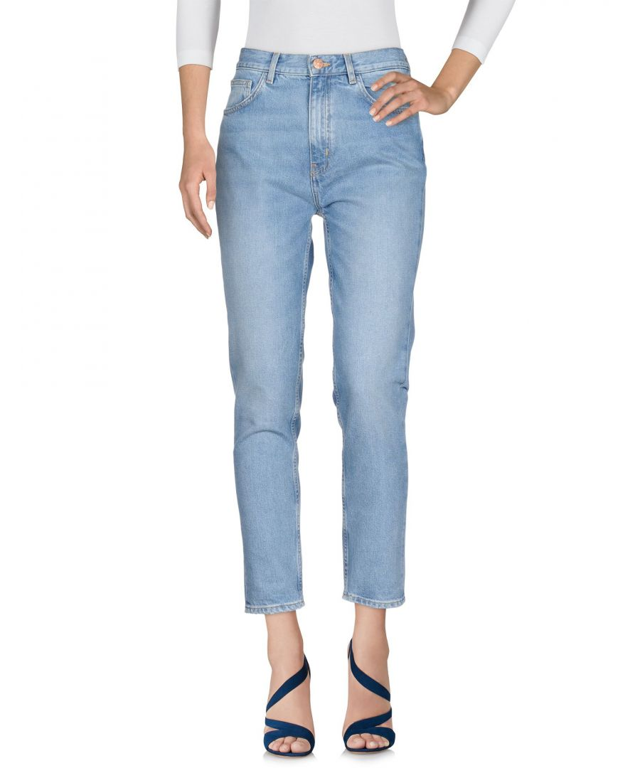 Image for M.I.H Jeans Blue Cotton Cropped Jeans