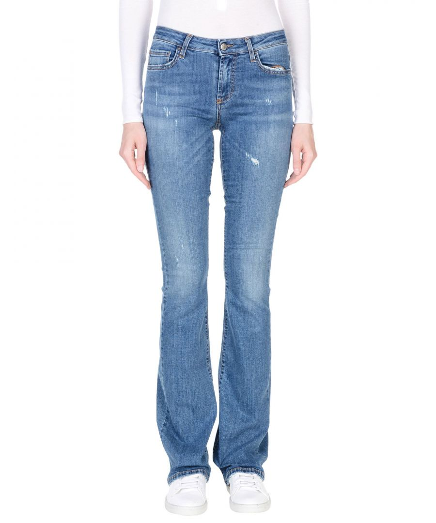 Image for Roÿ Roger's Blue Cotton Flare Jeans