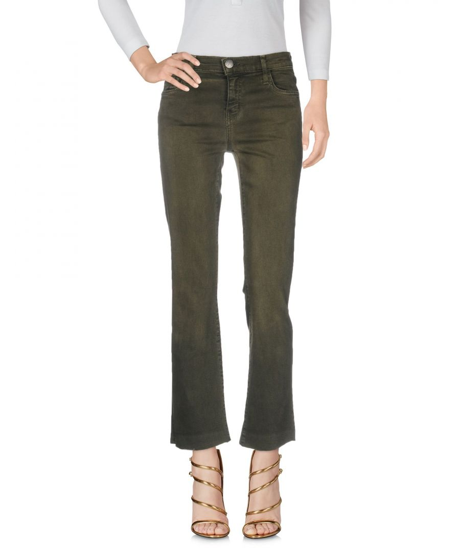 Image for Current/Elliott Military Green Cotton Denim Jeans