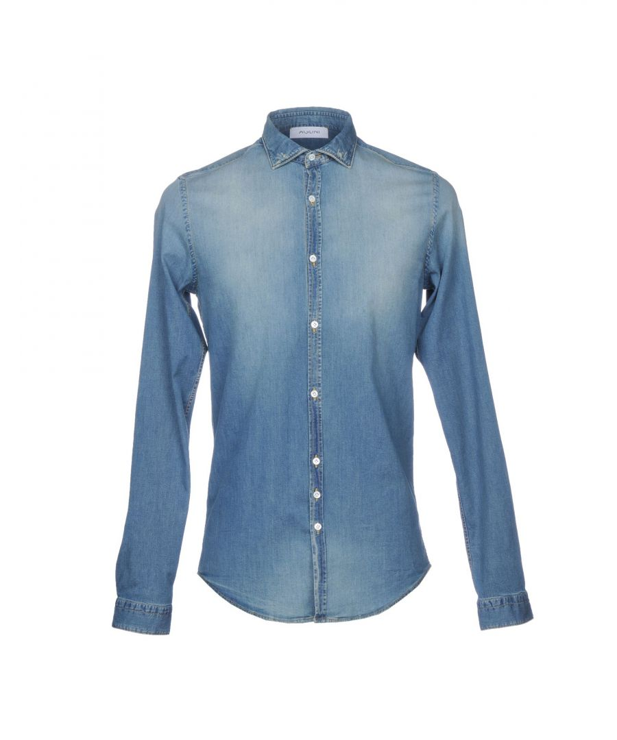 Image for Aglini Blue Denim Shirt