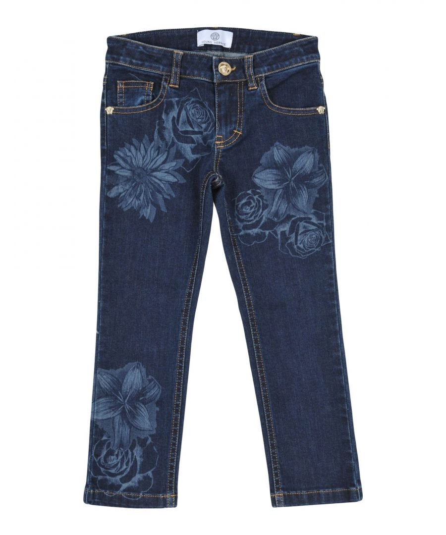 Image for DENIM Girl Versace Young Blue Cotton