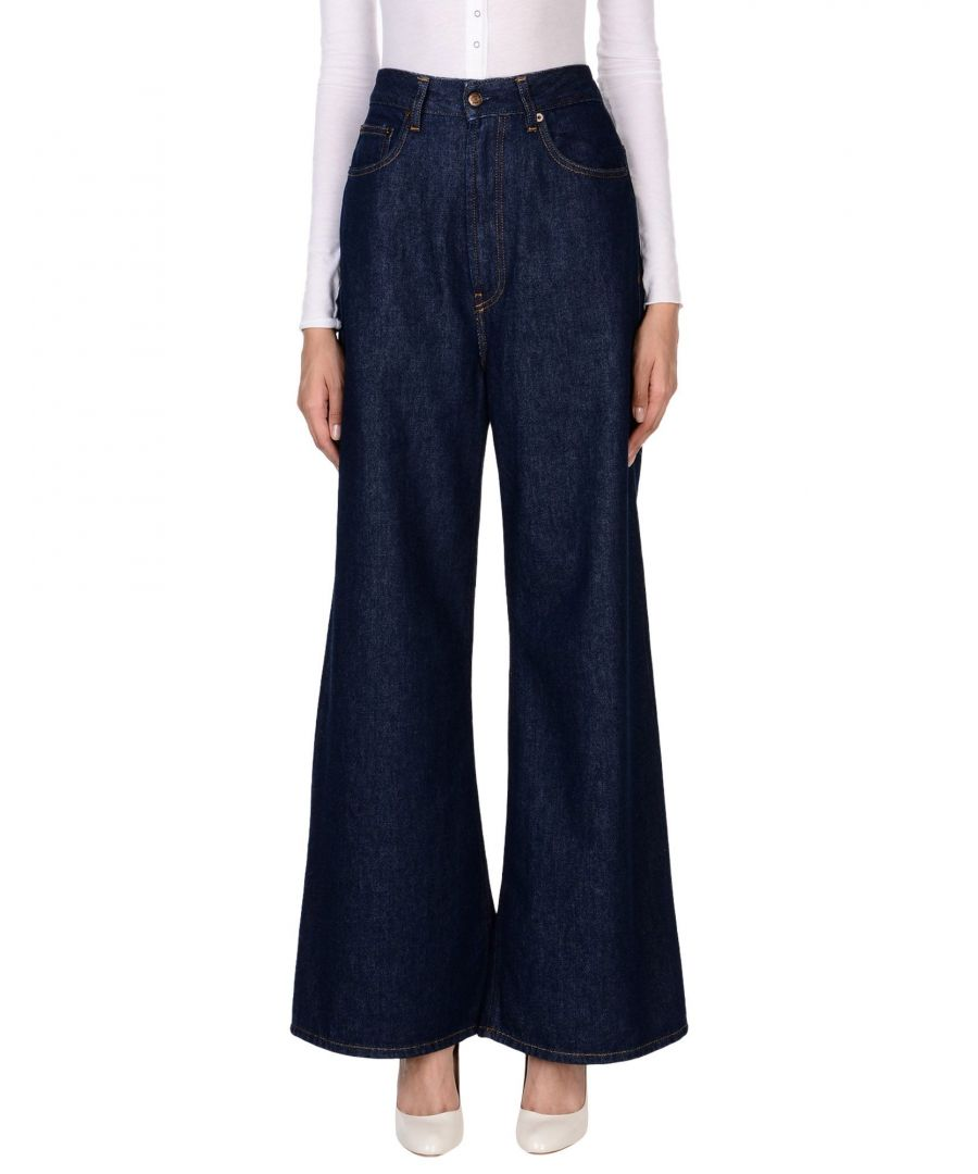 Image for Mauro Grifoni Blue Cotton Wide Leg Jeans