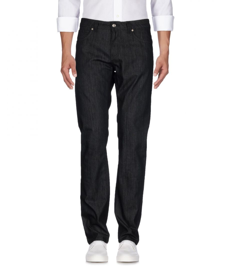 Image for Karl Lagerfeld Black Cotton Straight Leg Jeans