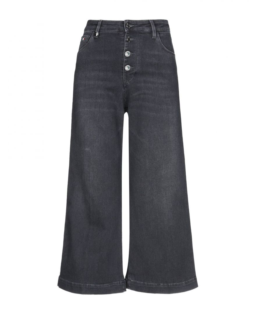 Image for Miss Sixty Black Cotton Wide Leg Jeans