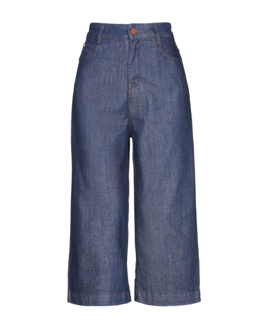 Image for Miss Sixty Blue Cotton High Waisted Wide Leg Jeans