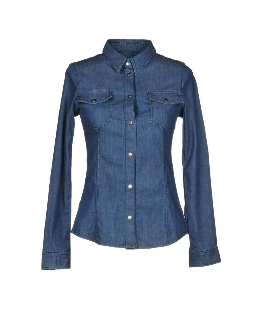 Image for Armani Jeans Blue Cotton Denim Shirt