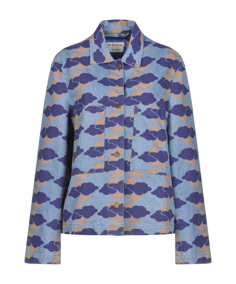 Image for Acne Studios Blå Konst Blue Pattern Denim Jacket