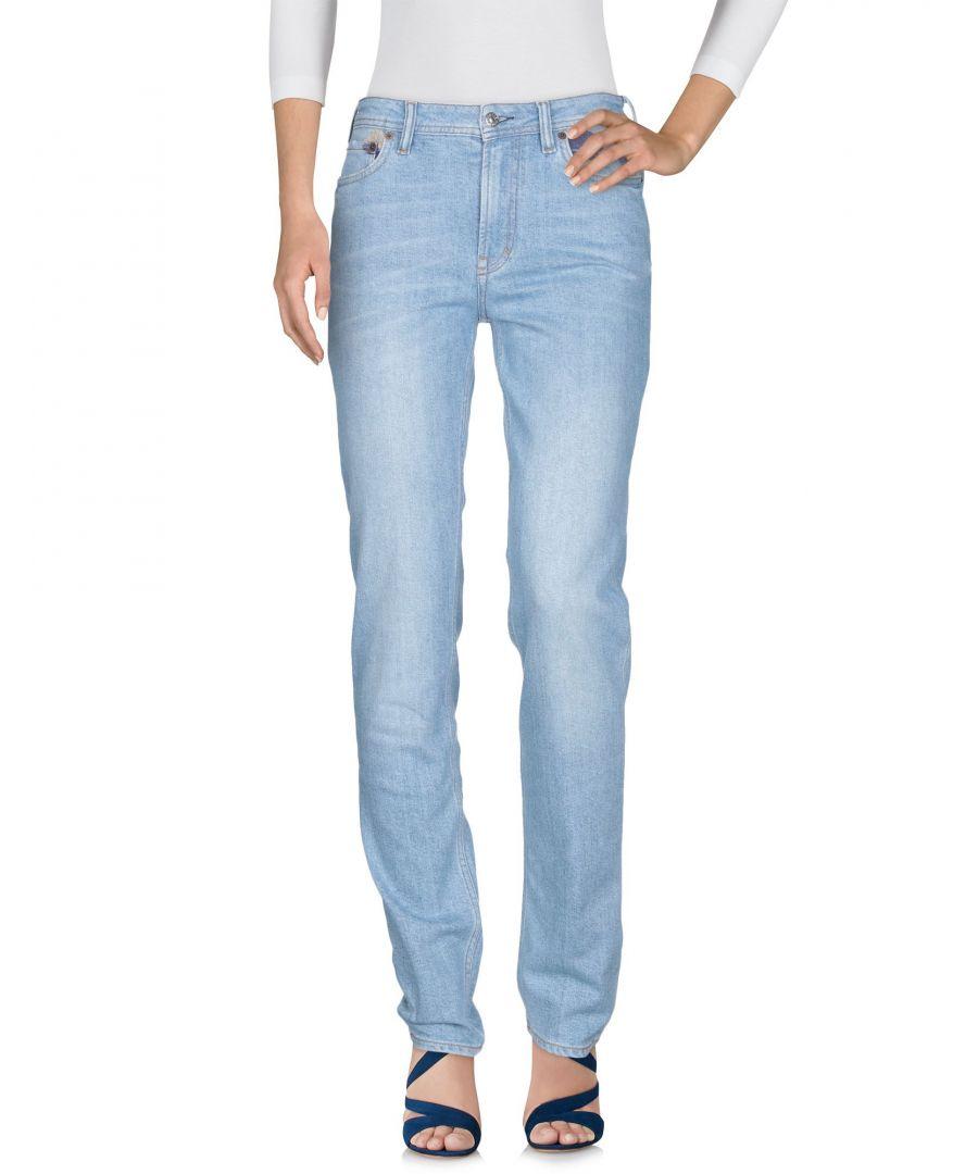 Image for Acne Studios Blå Konst Blue Cotton Straight Leg Jeans