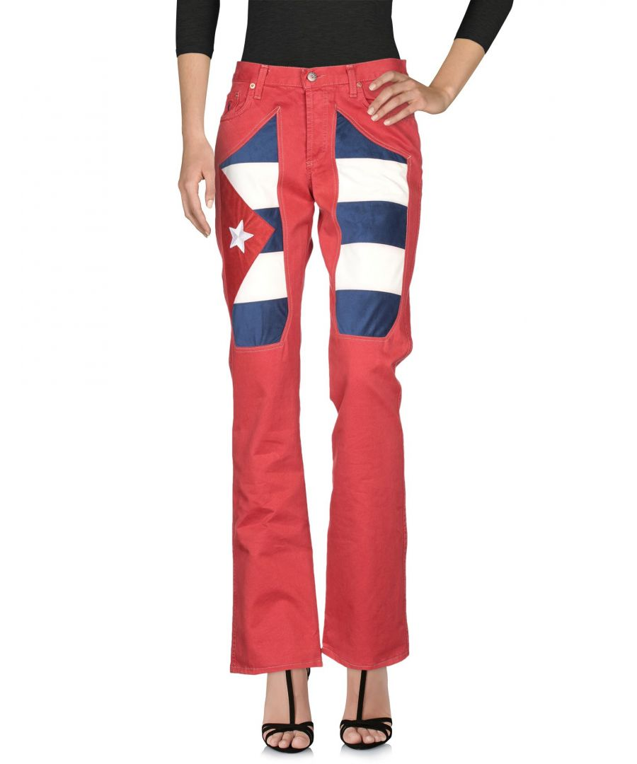 Image for Jeckerson Red Cotton Flare Jeans