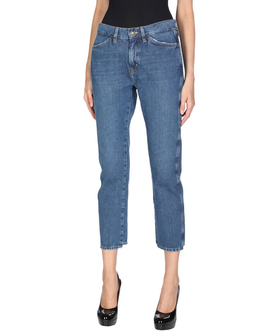 Image for M.I.H Jeans Blue Cotton Straight Leg Cropped Jeans