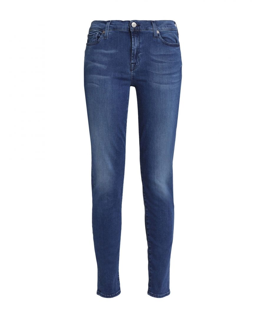 Image for 7 For All Mankind Blue Modal Jeans