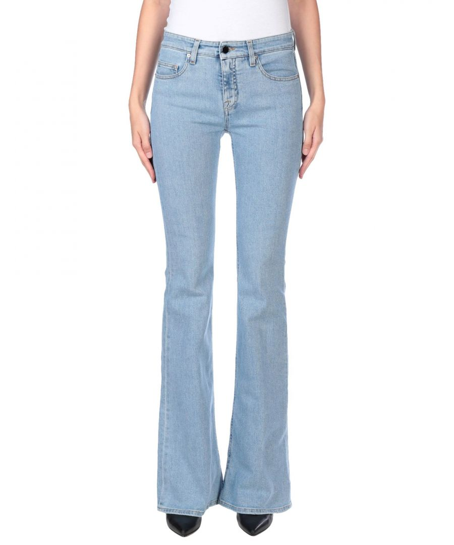Image for Victoria, Victoria Beckham Blue Cotton Flare Jeans