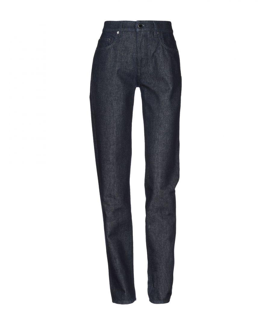 Image for Victoria, Victoria Beckham Blue Cotton Straight Leg Jeans