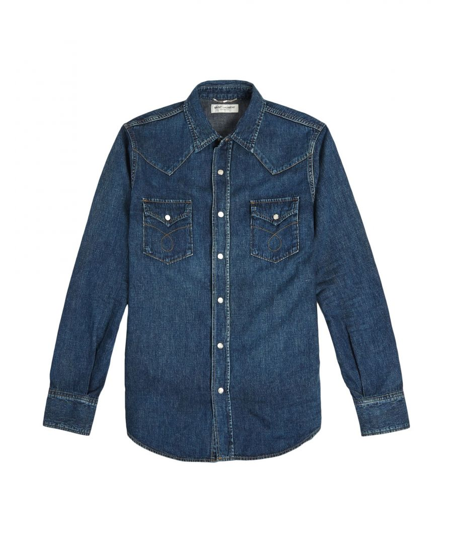 Image for DENIM Saint Laurent Blue Man Cotton