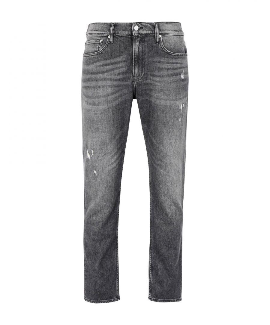 Image for Calvin Klein Jeans Black Cotton Bootcut Jeans