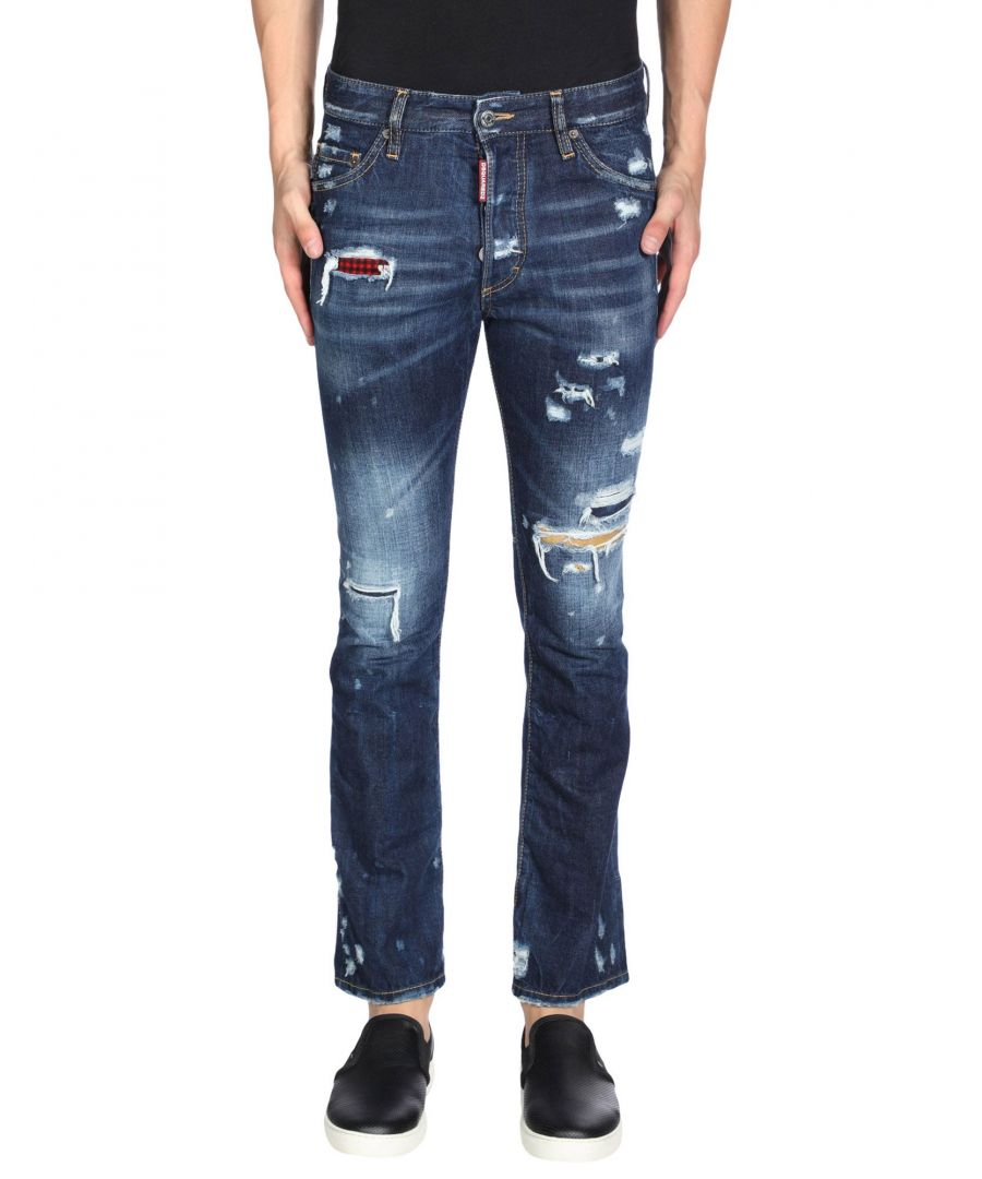 Image for Dsquared2 Blue Cotton Dark Wash Jeans