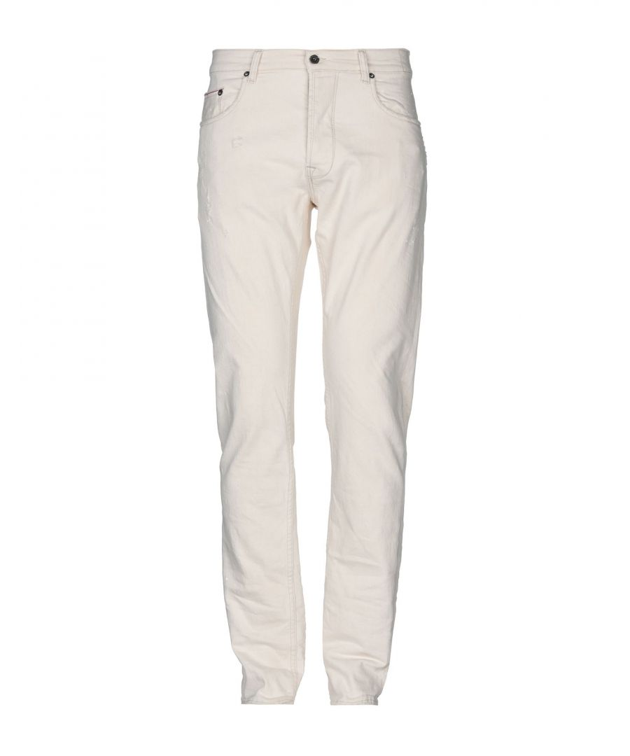 Image for The.Nim Ivory Cotton Slim Fit Jeans