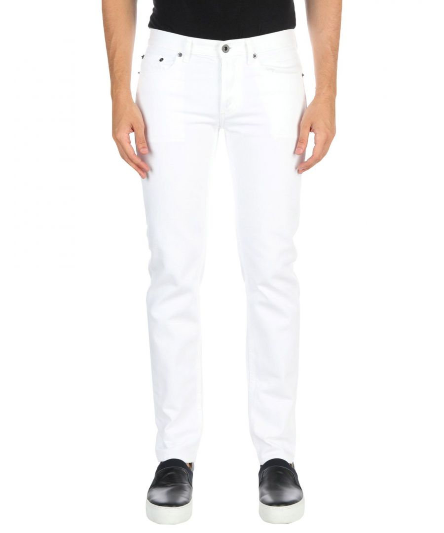 Image for Burberry White Cotton Jeans
