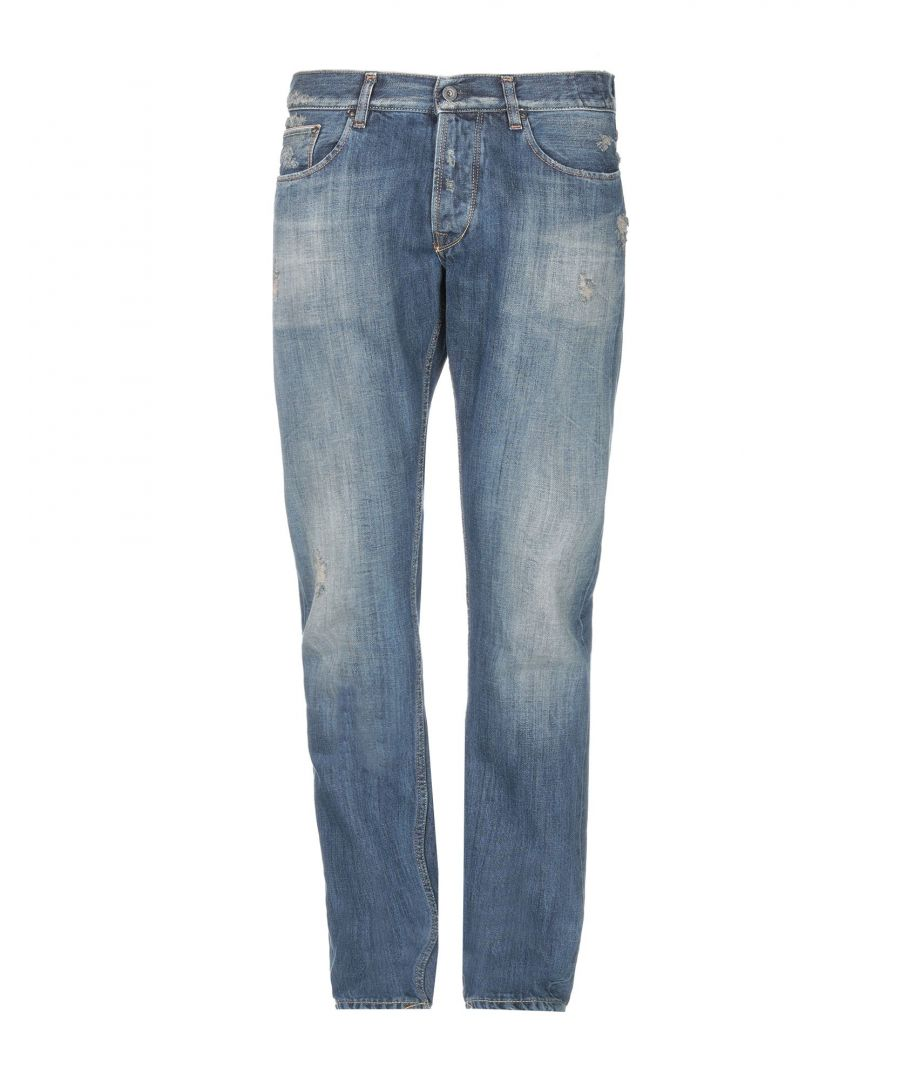 Image for The.Nim Blue Cotton Straight Leg Jeans