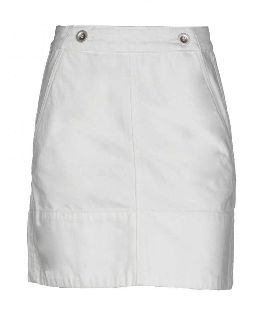 Image for M.I.H Jeans White Cotton Mini Skirt
