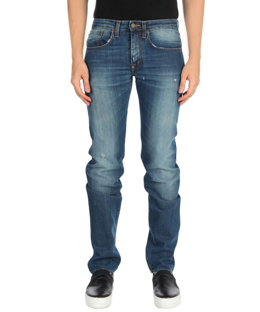 Image for (+) People Blue Straight Leg Jeans