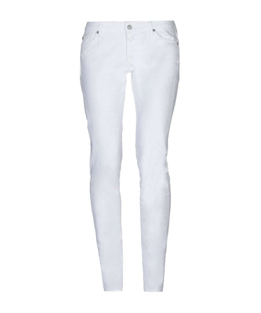 Image for DENIM 7 For All Mankind White Woman Cotton