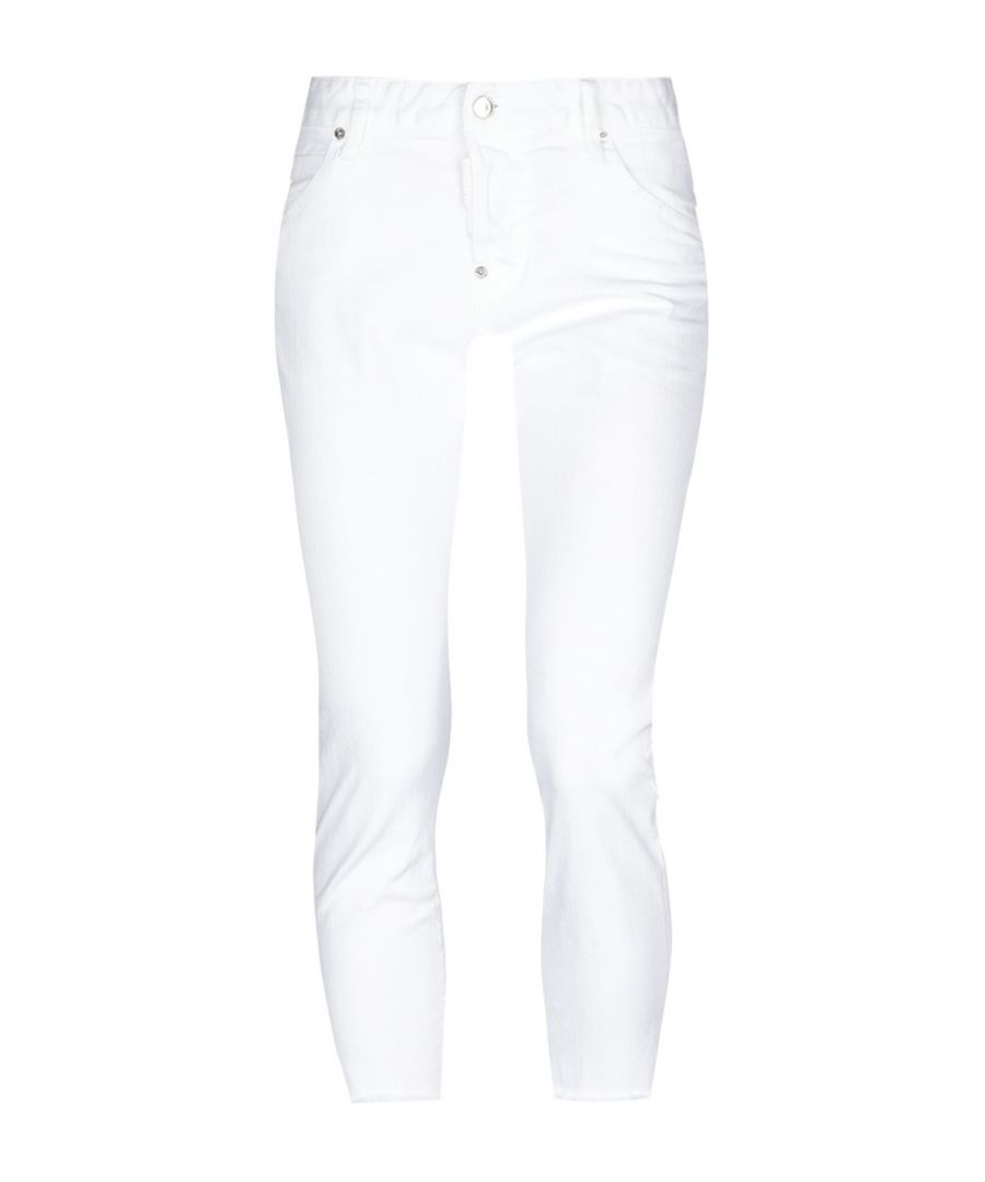 Image for Dsquared2 White Cotton Jeans