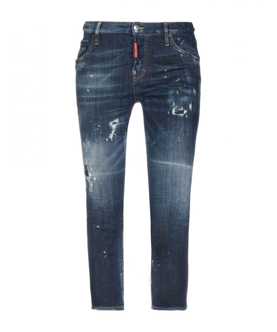 Image for Dsquared2 Blue Cotton Medium Wash Slim Fit Jeans