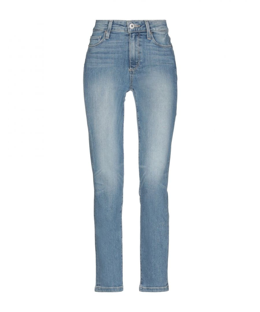 Image for Paige Blue Cotton Light Wash Jeans