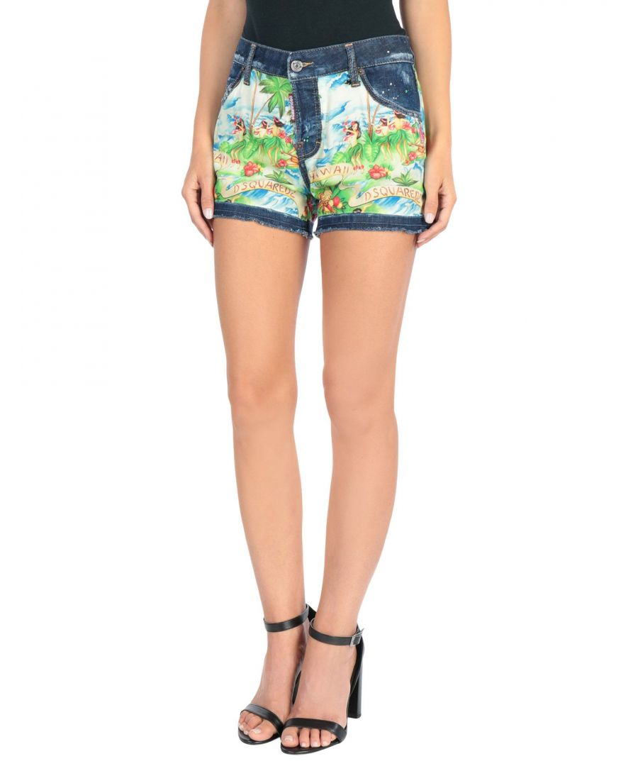 Image for Dsquared2 Blue High Waisted Denim Shorts